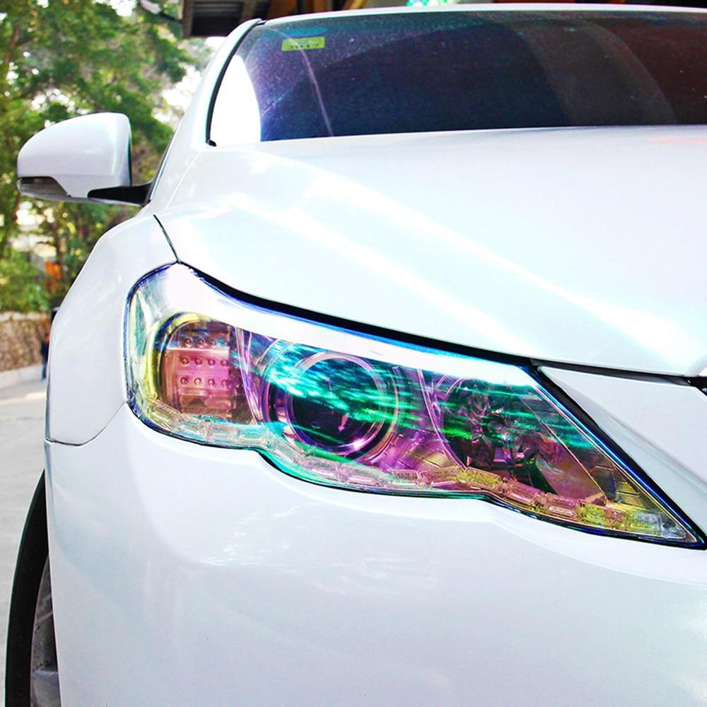Women S Headlights : Cm shiny chameleon auto car styling headlights