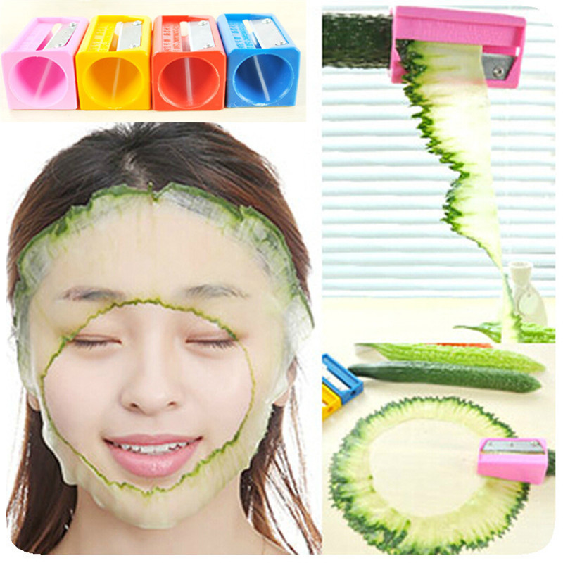 New Beauty Cucumber Cutter Curl Slicer Sharpener Vegetable Fruit Carving tools S