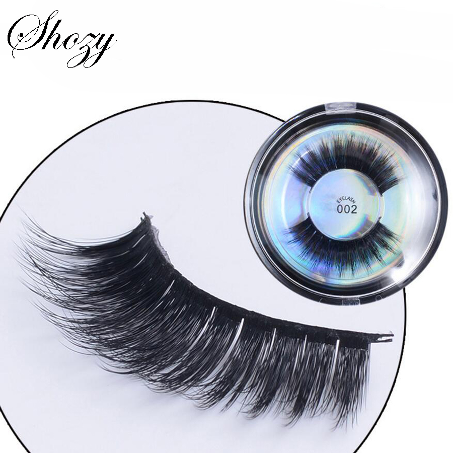 Shozy 1 Pair 3D Protein False Eyelashes Handmade Thick Fake