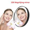 New Magnifier Mirror 10X Trisonic Makeup Mirror Shaving Cosmetic Face Magnifying Glass Compact Beauty Accessories