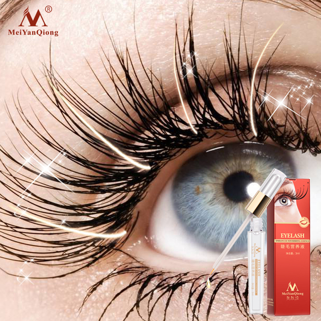 Tratamiento de crecimiento de pestañas a base de hierbas suero líquido realzador pestañas ojo más grueso mejor que la extensión de pestañas maquillaje potente