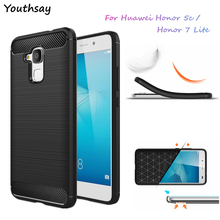 Фотография For Huawei Honor 7 Lite Case Luxury Soft Silicone Phone Cover For Huawei Honor 5C Shockproof Slim Tough TPU Rubber Armor Cases