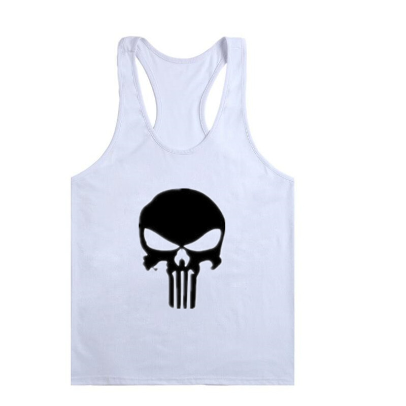 Fitness Tank Top Men Bodybuilding 2017 Clothing Fitness Men Shirt Crossfit Vests Cotton Singlets Muscle Top Punisher