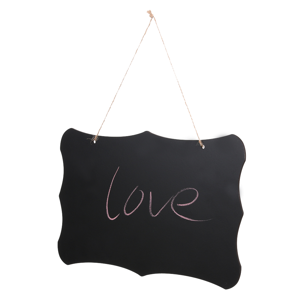 Hanging Chalkboard Sign Double Sided Erasable Message Board with Hanging String wedding decoration Party Decoration