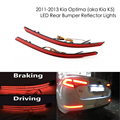 Красный Линзы СВЕТОДИОДНЫЙ Задний Бампер Отражатель Света Для 2011-2013 Kia Optima K5