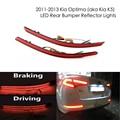 Lens Red LED Rear Bumper Refletor Luzes de nevoeiro Para 2011-2013 Kia Optima K5