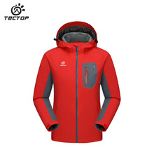 2017 tectop brand outdoor hiking men garment jacket soft shell waterproof breathable wear resistance Camping & Hiking Men jack