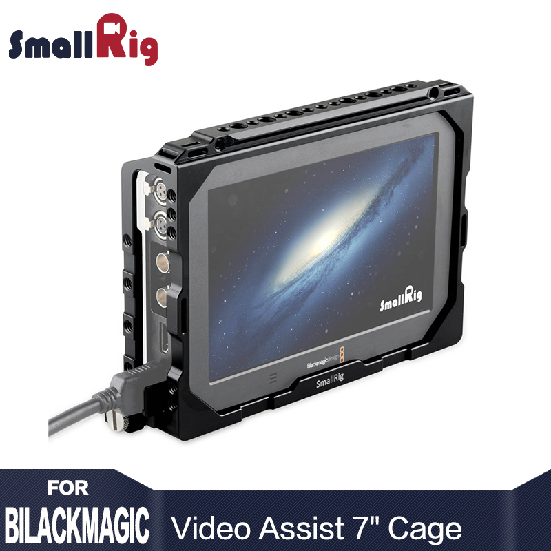 SmallRig Monitor Cage for Blackmagic Video Assist 7 Nato Rail And a HDMI Clamp Built in With Nato rail 1830
