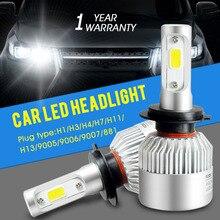 Авто свет H7 LED H4 H1 H3 H8 H11 H13 9005 9006 9007 881 LED Фары 6500 К 72 Вт 8000LM COB Чип автомобилей часть лампа