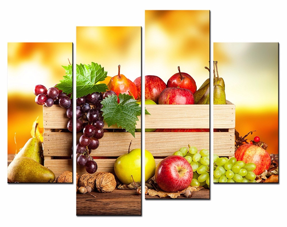 4 Pieces Unframed Canvas Paintings Modern Home Decoration pictures ...