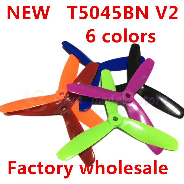 wholesale 50 pairs Dynamic Balancing T5045BN V2 5-inch mini multi-rotor 3 blades special propeller for DIY FPV racing mini drone