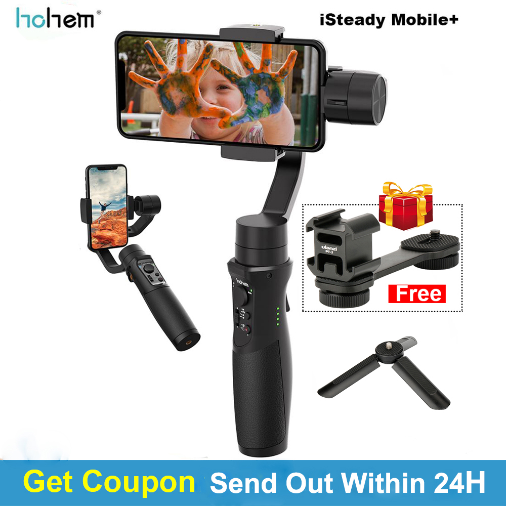 In Stock Hohem iSteady Mobile Plus 3 Axis Handheld Smartphone Gimbal Stabilizer for iPhone Andriod Huawei