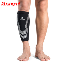 Kuangmi 1PCS Shin Guard Calf Support Compression Soccer Running Leg Sleeve Men Women Football Basketball Legwarmers Pain Relief