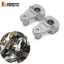 KEMiMOTO Handle bar Risers 7/8″ 22mm 1 1/8″ 28mm Bars Clamp HandleBar Mount Clamps Riser for BMW for Yamaha for Honda Universal