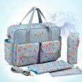 Organizador Saco De fraldas Para O Bebê Mãe Sacos de Impressão Moda Ombro Mensageiro Bolsas Feminina Diaper Bag Organizador Bolsa De Bebe