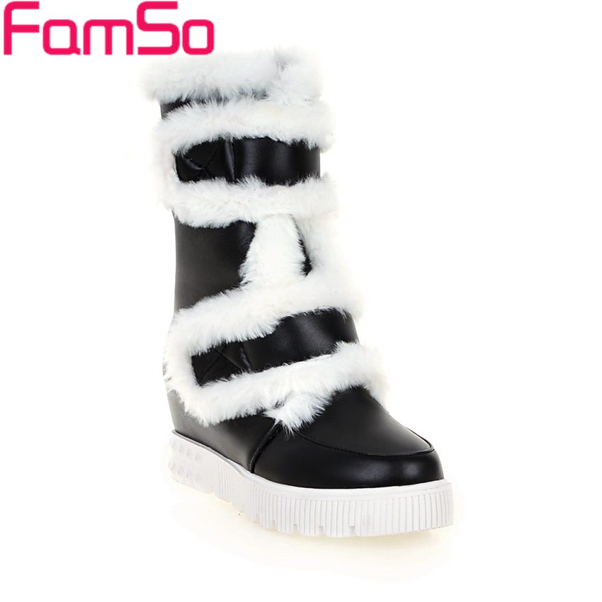 ФОТО Big Size 34-43 2017 New Shoes Women Boots Black Designer Shoes Waterproof Half Boots Winter Russia keep Warm Snow Boots ZWB4151