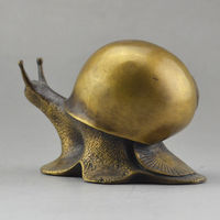 China handmade antique bronze Self Improvement Snail Decoration Statues
