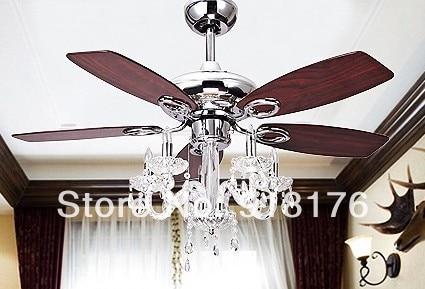 European Antique Ceiling Fan Light 42 Inch Crystal Chandelier Modern Luxury Fashion Fans Konoha