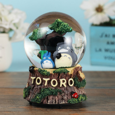 Totoro Crystal Ball Rotating Music Box