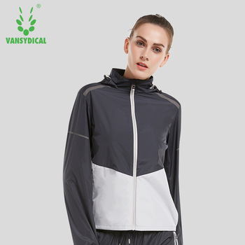 Hot Sweat Clothes Women's Zipper Sports Running Jackets Hooded Fitness Yoga Tops Lose Weight Slimming Sweating Sportswear