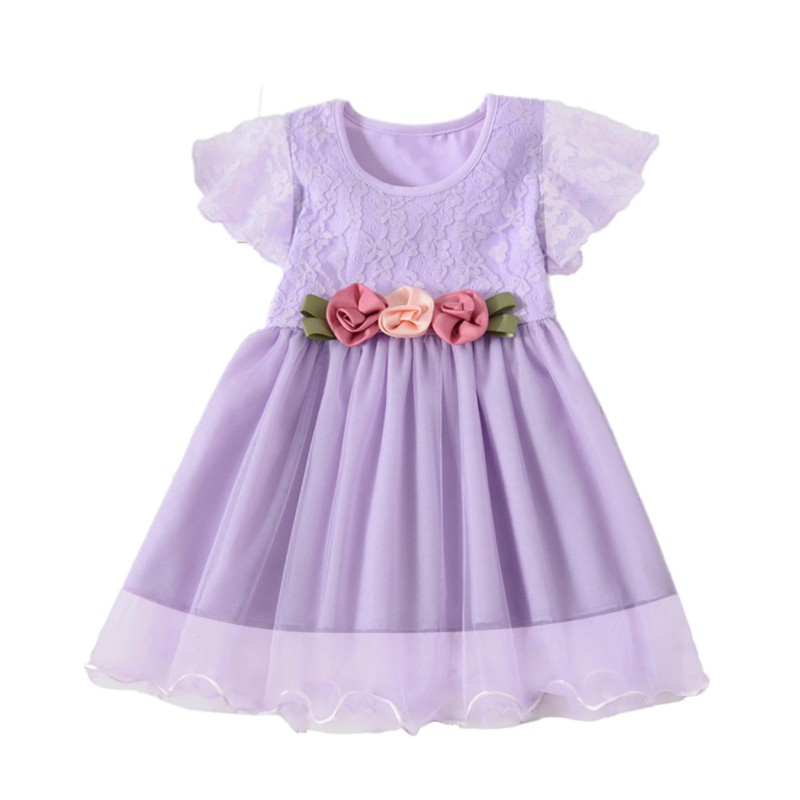 Summer Girls Dress Cute Princess Dress Cotton Lace Tutu Casual Dresses for Baby Girl Clothes Party Dress for Kid Girl in Dresses from Mother Kids