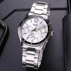 Casio watch men's watch pointer series multi-function chronograph business casual watch men's watch MTP-1374D-7A