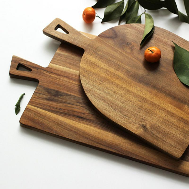 Creative Kitchen Chopping Block Kitchen Wood Food Plate Cake Sushi Serving Trays Bread Fruit Pizza Tray Cutting Board