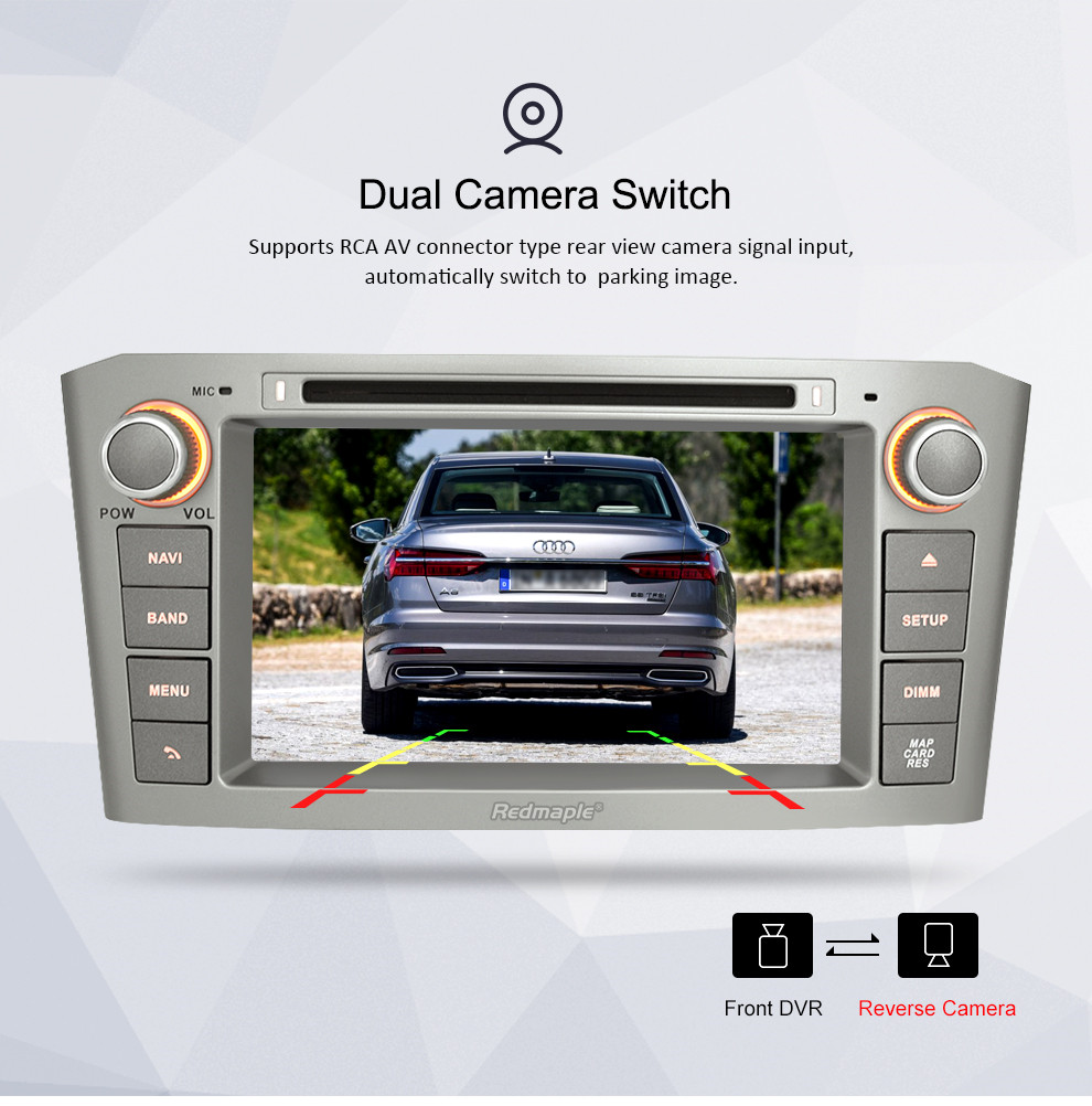 Image 5 - 4G RAM 7'' Android 9.0 Car DVD GPS Navigation Video Player For Toyota Avensis/T25 2003 2008 2 Din Car PC Head Stereo Multimedia-in Car Multimedia Player from Automobiles & Motorcycles