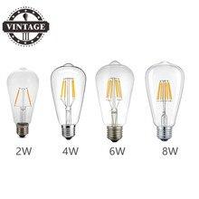 LightInBox винтажная лампа накаливания из углеродного волокна BulbST64 E27 220V Светодиодный светильник в стиле ретро лампа Эдисона