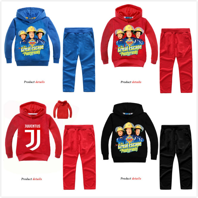 Back To Search Resultsmother & Kids Kids Fireman Sam Tracksuits Children Outdoor Casual Clothing Sets For Boys Girls Pullover Coat+pant Suit Baby Hoodies Set Wl090