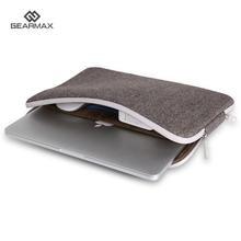 Neue Design Weichem Filz Gearmax für Macbook Air 11 12 13 Fall herren Laptoptasche 14 Wasserdichte Abdeckung für Macbook Pro retina 15 Fall