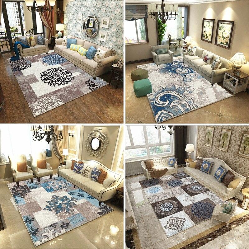 Tapis américain européen pour salon canapé tapis doux fleur fleur table nordique maison lit étude rectangulaire grande zone tapetes