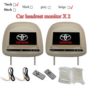 Headrest Car-Monitors Toyota 800x480 for Camry Rav4 Highlander Prado with Touch-Button