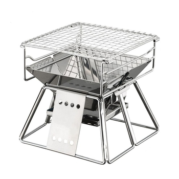 Small Stainless Steel Stove | Exquisite Portable Stainless Steel Bbq Oven Set Bbq Grill For Outdoor Small Barbecue