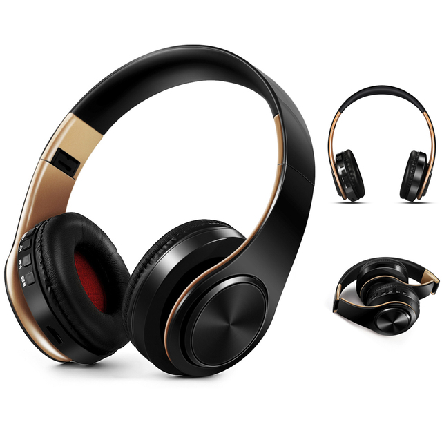 NDJU Wireless Headphones Bluetooth Earphone Foldable Adjustable Handsfree Headset with MIC for samsung xiaomi mobile phone