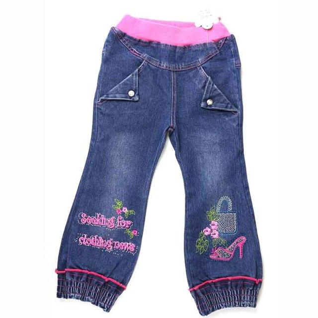 Подростков девочек Джинсовые Шаровары цветок обувь сумки вышитые Carotte кристалл кнопки брюки Рождественских праздников Сигары ZQ 81717