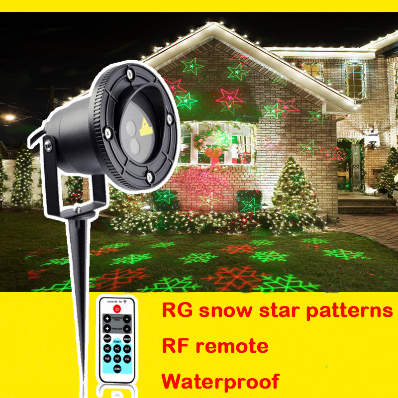 star christmas lights shower garden laser projector outdoor waterproof xmas tree holiday party landscape light timer