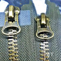 2 PCS/LOT MOST FREE SHIPPING HEAVY DUTY Zipper Metal 2 WAY double slider BLACK/ARMY GREEN FOR clothes sewing accessories SAVE!
