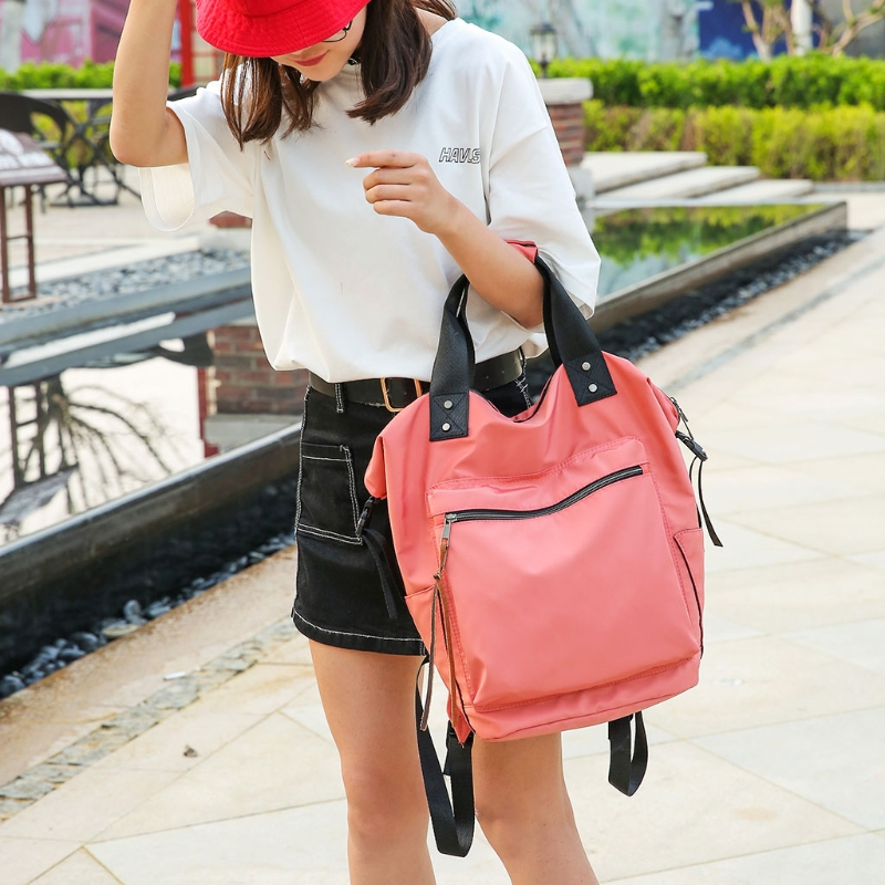 Image 2 - Fashion Women Waterproof Multifunctional Nylon Backpack Tote Shoulder BackpackBackpacks   -