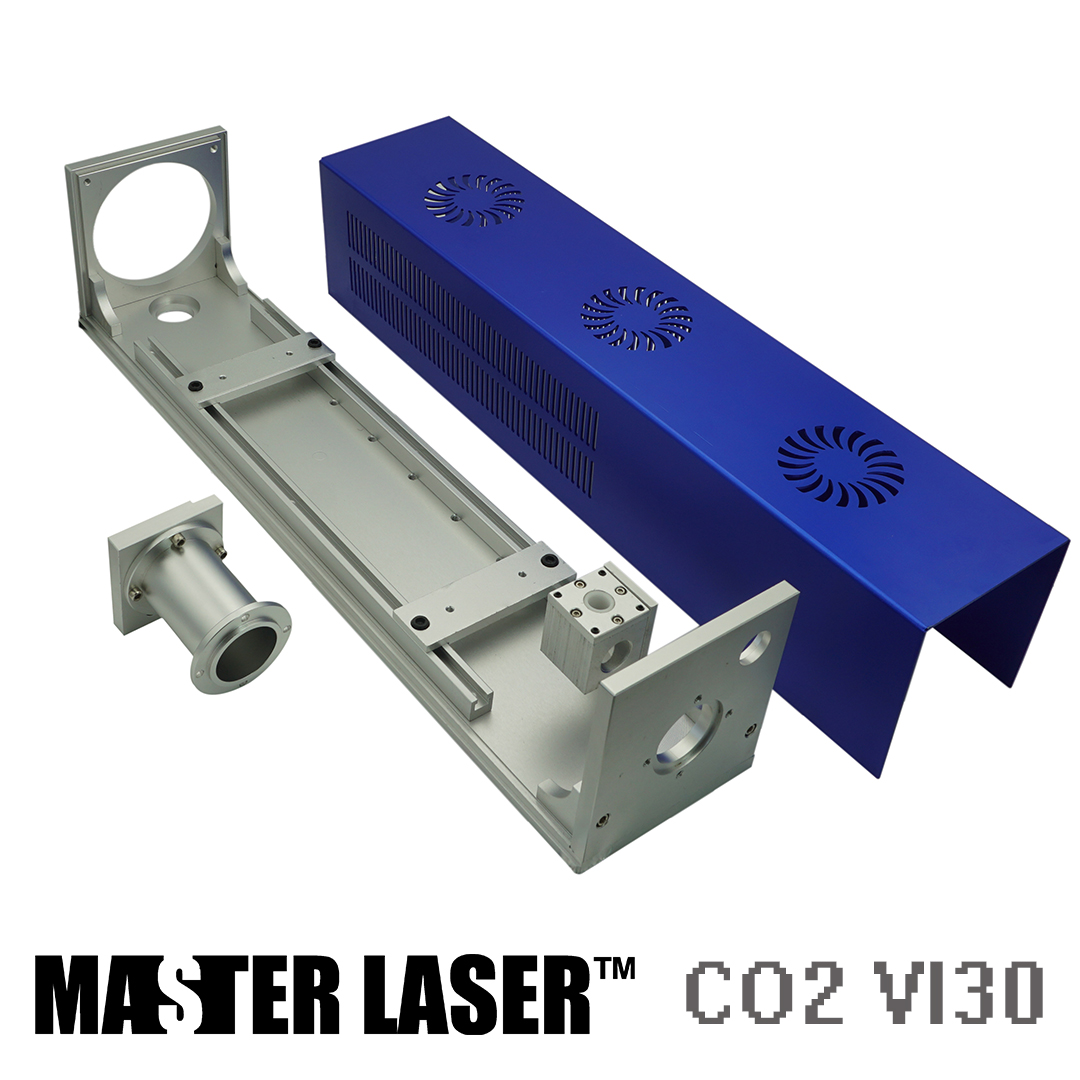 Al Case of CO2 30W RF Laser Marking Machine Laser Holder Parts for Synrad VI30 CRD 30w Laser Path Case Mounts цены