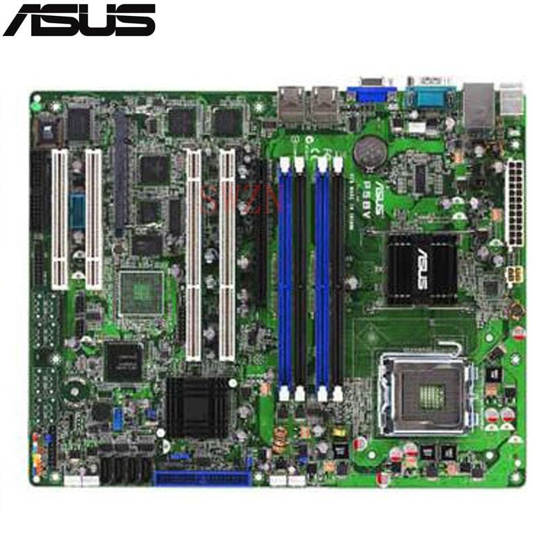 все цены на original Used Server motherboard For Asus P5BV Socket 775 Maximum 4*DDR2 32GB 4xSATAII ATX онлайн