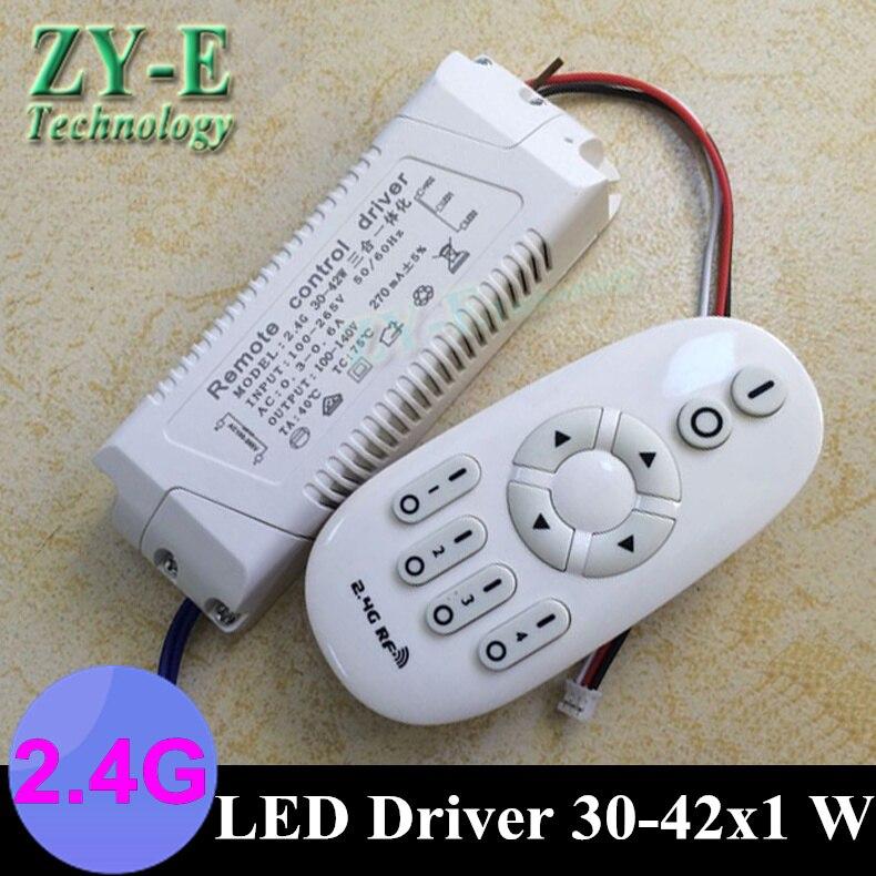 купить 2set 42W 220v LED outside driver intelligent 2.4G Wireless RF Remote Controller lights driver block shap30-42w ceiling driver онлайн