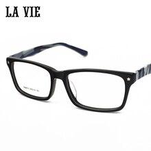 LA VIE Brand 2016 Fashion Hot Sales have 4 Colors Acetate Glasses Frame For Unisex Optical glasses frames porta gafas #2815