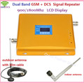 LCD Display Dual Band GSM 900mhz & DCS 1800mhz Cellular Signal Booster , GSM 4G Mobile Signal Repeater Amplifier + Antenna 1Sets