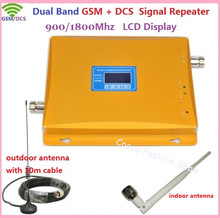 LCD Display Dual Band GSM 900mhz DCS 1800mhz Cellular Signal Booster GSM 4G Mobile Signal Repeater