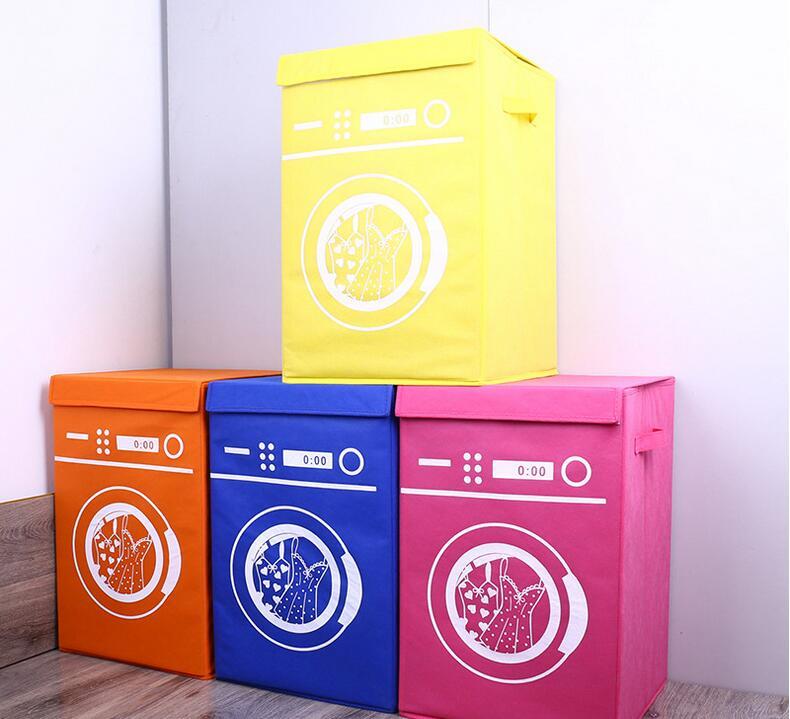 Panier à linge rangement enfants jouets organisateur baril pliable vêtements Machine à laver modèle Non-tissé tissus hôtel conteneurs
