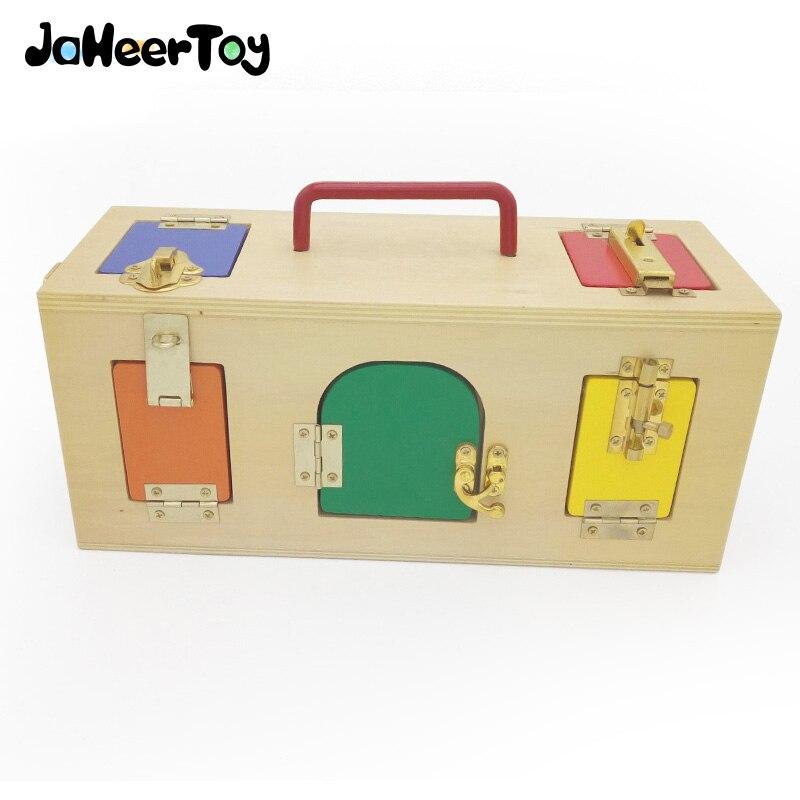 JaheerToy Montessori jouet éducatif déverrouillage boîte enfants capacité formation bébé jouets en bois 3-4-5-6 ans cadeau créatif