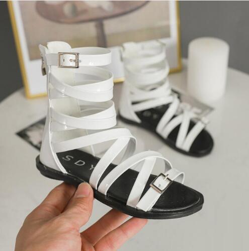 2019 Sommer Neue Hohl Mädchen Römischen Sandalen Offene Spitze Flut Modelle Hohe Hilfe Sandalen Nicht-slip Kinder Schuhe Angenehm Im Nachgeschmack