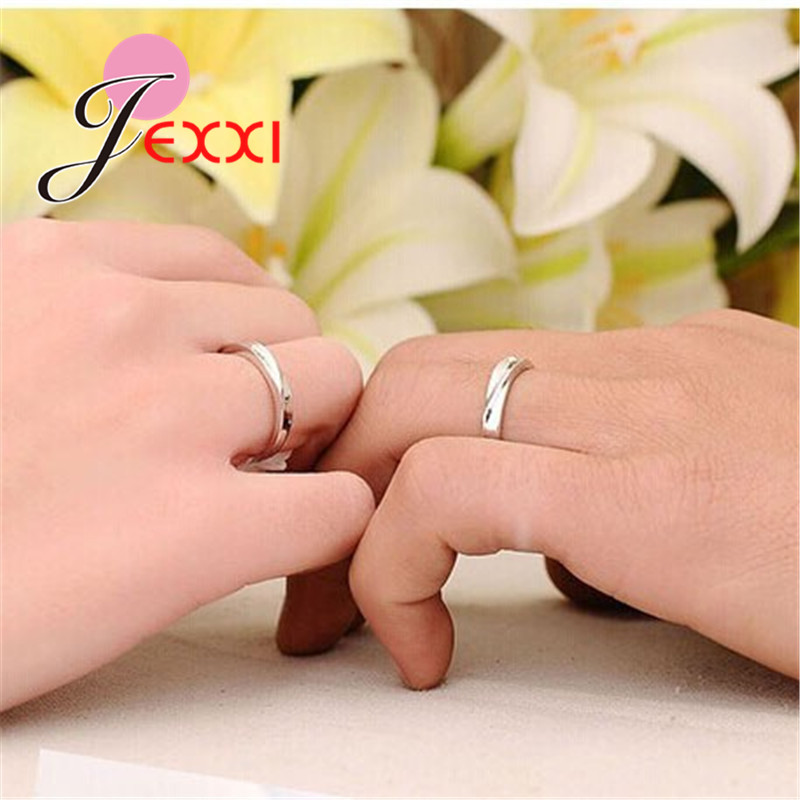 925 Sterling Silver Couple Rings Fashion Jewelry Classical Rings Adjustable Sizes  Wholesale Separate Men and Women !!! 2