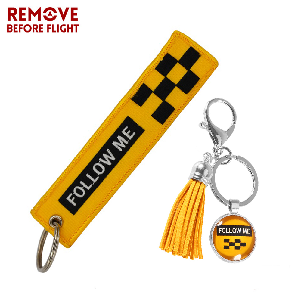 Remove Before Flight Follow Me Keychain for Bags llavero